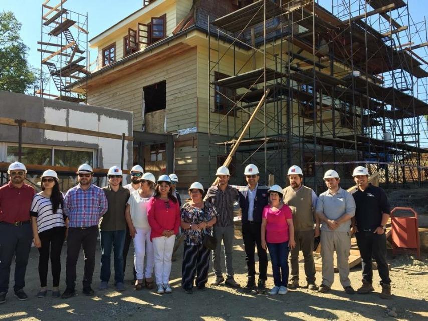 Reconstrucción de histórica Casona El Llolly en Paillaco está en su etapa final